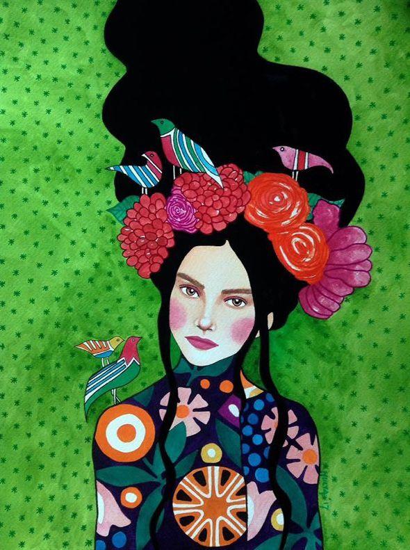 I mille volti delle donne nei ritratti di Hülya Özdemir | PICAME | Pop art, Dipinti artistici, Progetti d'arte