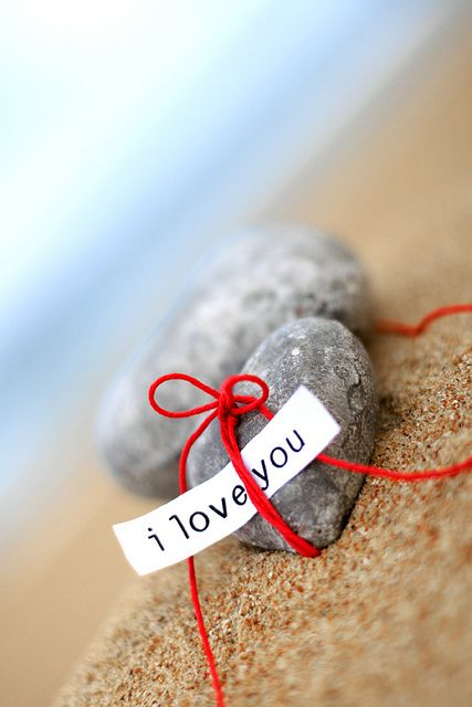 Dirk, remember our San Diego beach walk when we found all the heart rocks? Sigh. Let's do it again! <3 ~ETS
