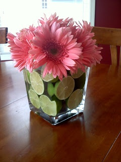 Birthday flower centerpiece or gift