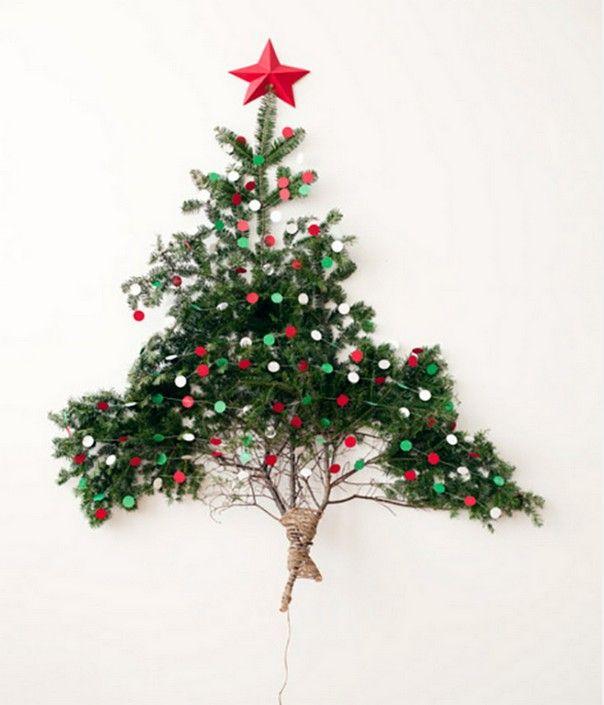 Как сделать елку на стене в маленькой квартире