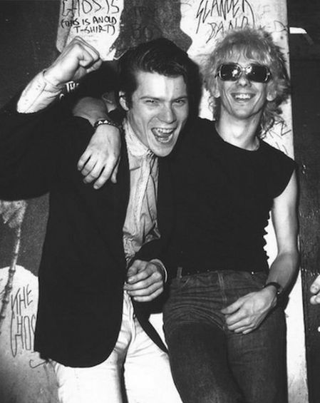 Phil Marcade with Stiv Bators of The Dead Boys, 1978
