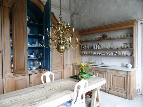 axel vervoordt's castle: the kitchen