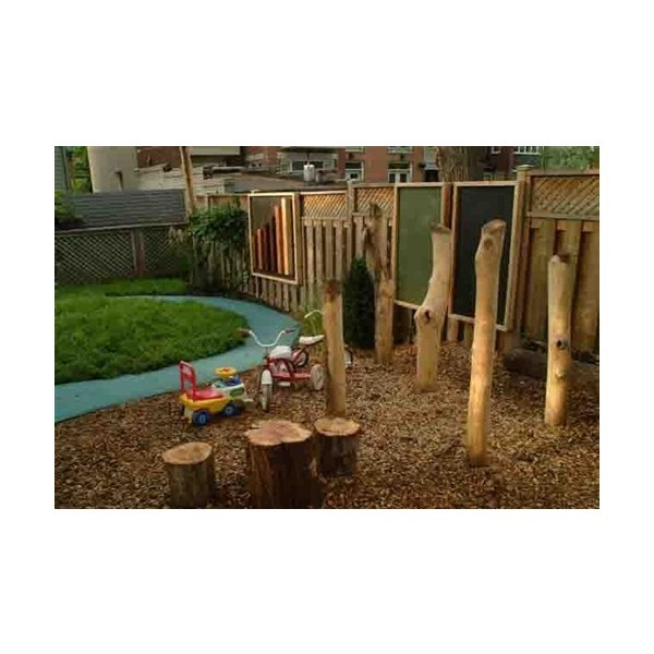 O'Leary's Learning Area | Natural Playgrounds found on Polyvore