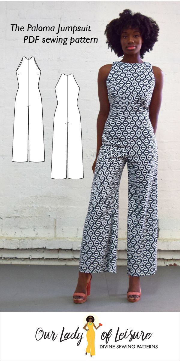 The Paloma Jumpsuit Sewing Pattern by Our Lady of Leisure