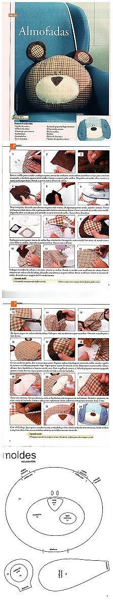 DIY bear pillow