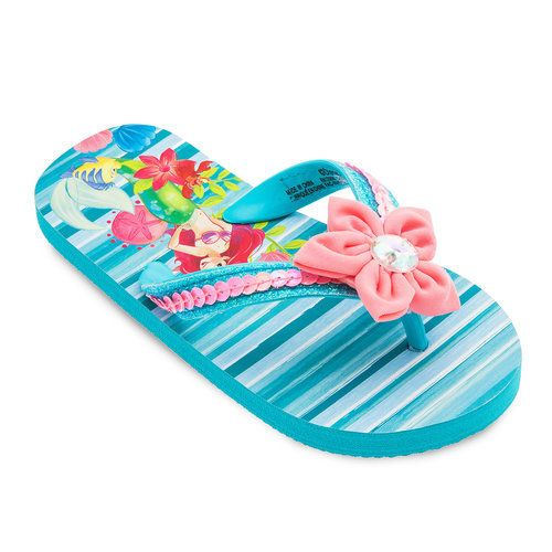 c28619dcfaad0 Flipping your fins will get you far in Ariel s sparkling sandals. Add a  splash of color to your little mermaid s sunwear with these fanciful flip  flops.