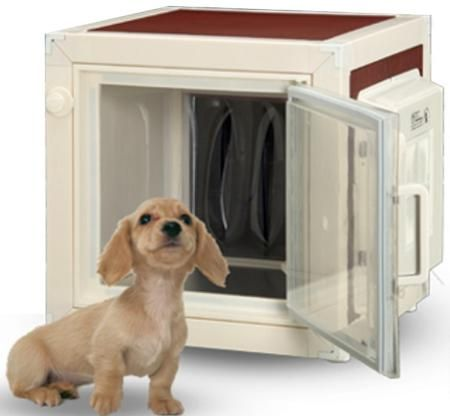 Say what? An air conditioned dog house!