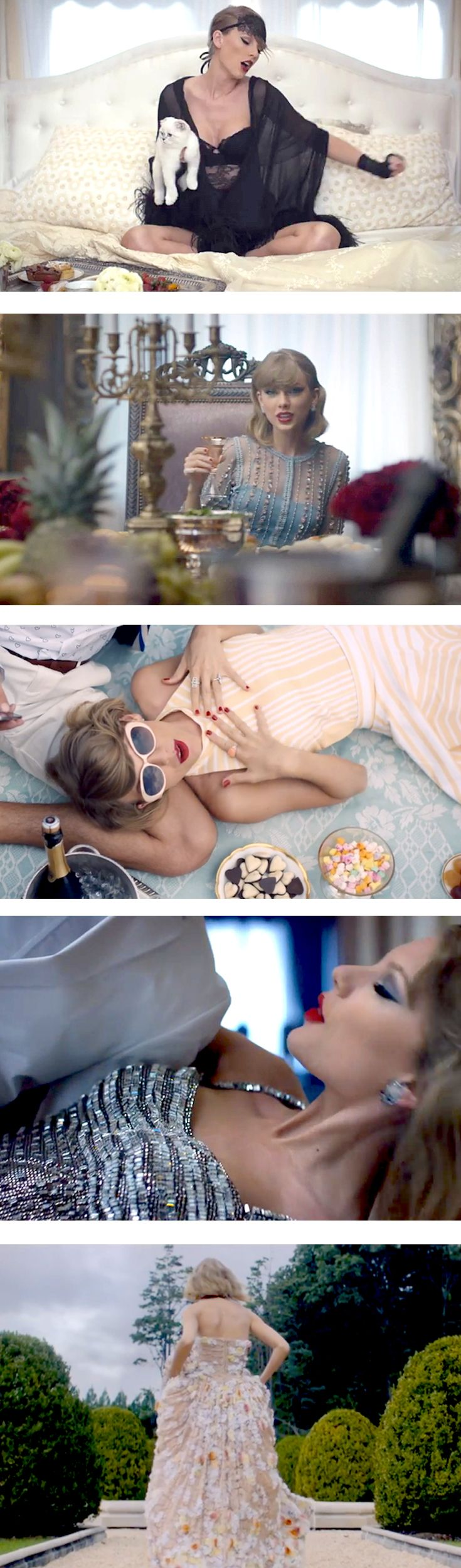 All the Looks from Taylor Swift's New Video Blank Space! #BlankSpace #TaylorSwift