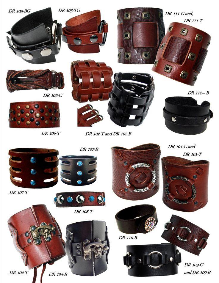 Women's and Men's Unisex Leather Cuffs Bracelets