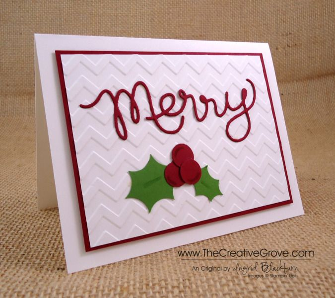 Paper Craft Christmas Card Ideas Part - 19: CAS Expressions Thinlits Christmas Card By Nyingrid - Cards And Paper Crafts  At Splitcoaststampers