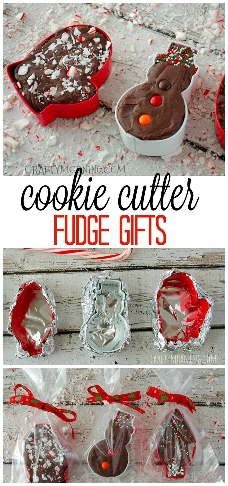 This cookie cutter fudge is adorable and delicious for homemade Christmas gifts! It uses a candy cane fudge recipe.