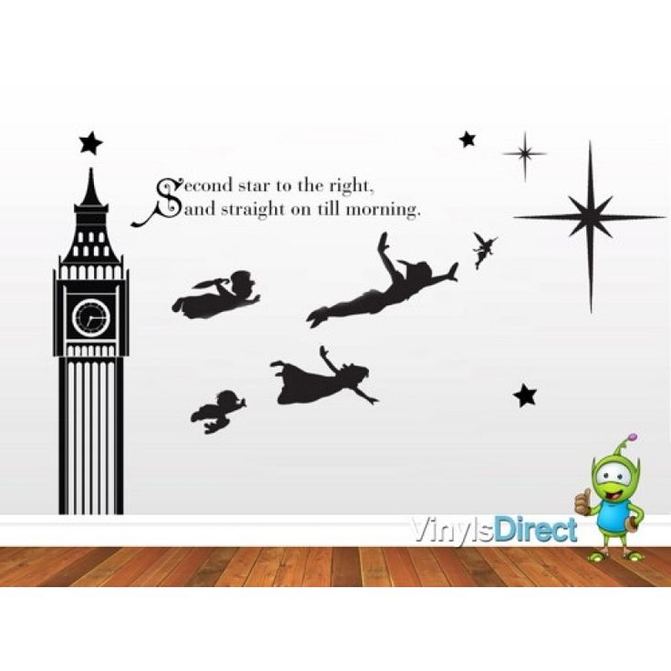 Disney Peter Pan Big Ben Wall Decal Sticker Part 65