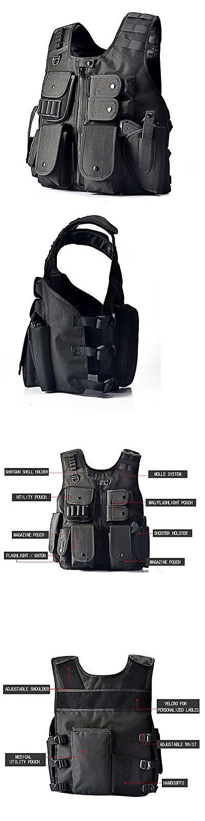 Chest Rigs and Tactical Vests 177891: Military Tactical Vest Swat Enhanced Molle Carrier Combat Gear Police Black Ammo -> BUY IT NOW ONLY: $38.75 on eBay!