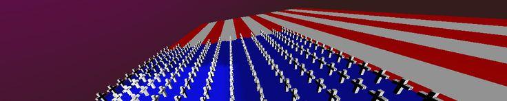 """FLAG"""" consiste numa animação 3D interativa em """"loop"""" constante construída com a linguagem VRML (Virtual Reality Modeling Language).  O objeto animado efetua dois movimentos simultâneos incessantes com duração de 1 minuto: Um giro em torno de seu próprio eixo e o movimento de aproximação e afastamento."""