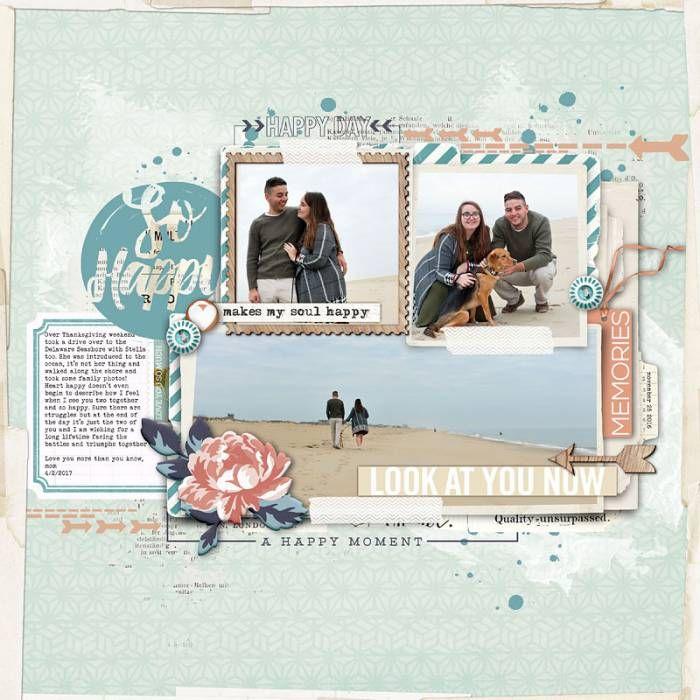 So Happy scrapbook page from our winter trip over to the Delaware Seashore #designerdigitals