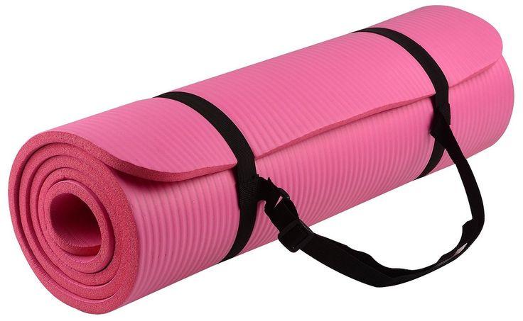 Yoga Mat. This Pink GoYoga All-purpose, Extra Thick, High Density, Anti-tear, Non-Slip, Portable Pad $24.99