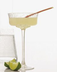 Rhuby Daiquiri - Strawberry rhubarb dacquiri! - white rum, maraschino liquer, grapefruit juice, lime juice and rhubarb syrup