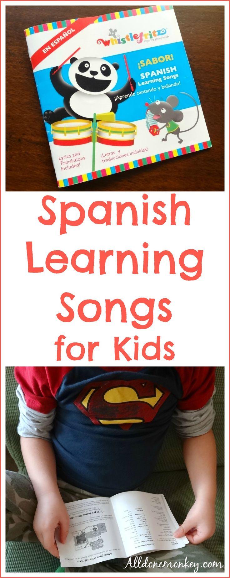Spanish Learning Songs for Kids: Whistlefritz CD Review | Alldonemonkey.com @alldonemonkey