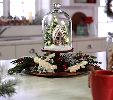 Put the holidays on a pedestal--and show off your seasonal cheer--with an under-glass illuminated holiday scene by Valerie Parr Hill. QVC.com