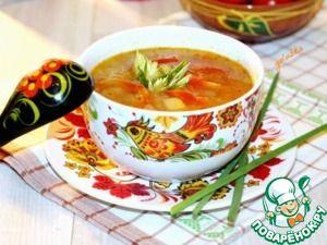 Рецепт: Чесночный суп с рисом и овощами