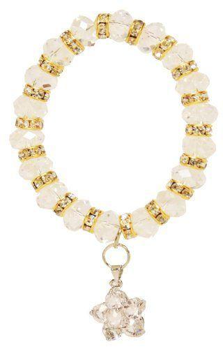 Clear Flower Crystal Bubble Bracelet Jouel. $7.99. Save 73% Off!