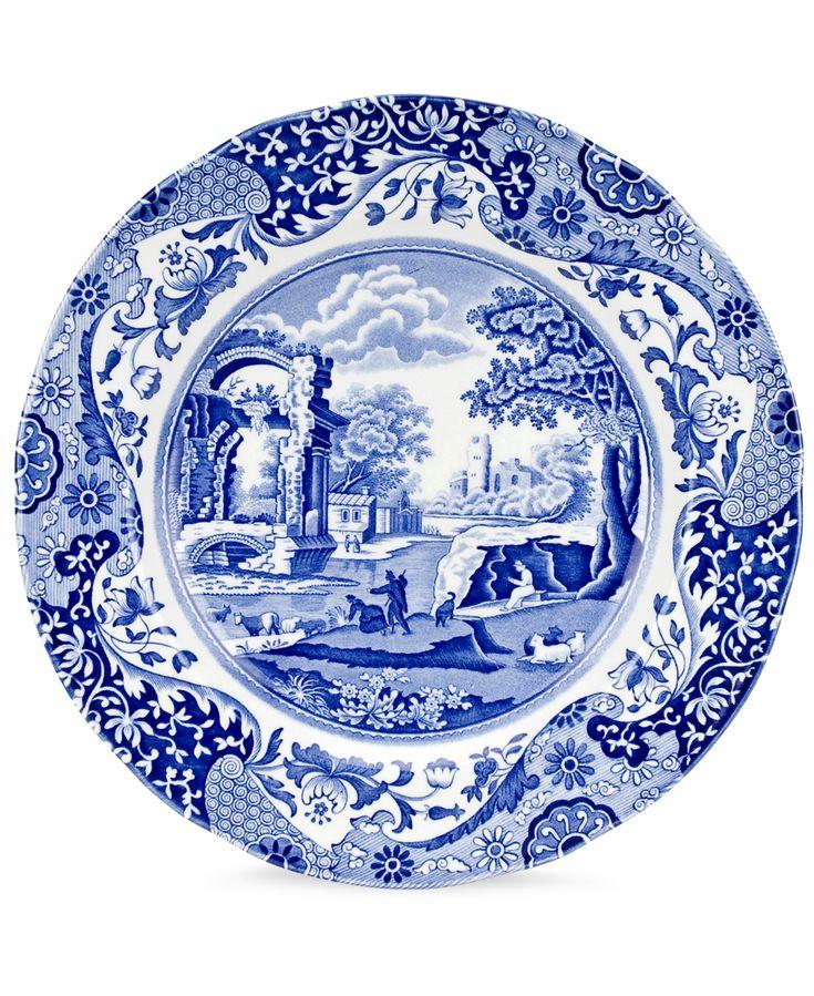 Spode Dinnerware Blue Italian Collection Reviews Dinnerware Dining Macy S Rustic Dinner Plates Blue Dinnerware Plates