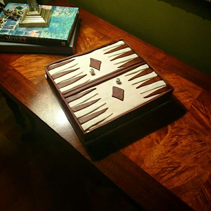 Backgammon#birthday_cake#nefs_cake_deco