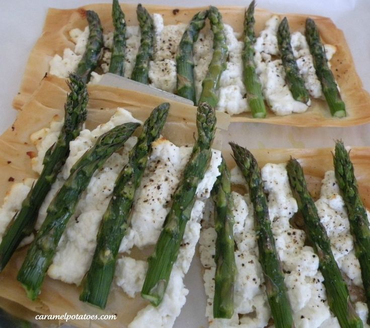 Roasted Asparagus and Goat Cheese Tarts