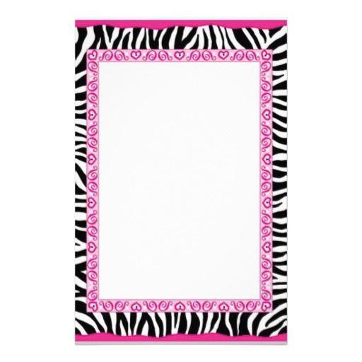 Pink and zebra templates free zebra pink border custom for Zazzle custom t shirts