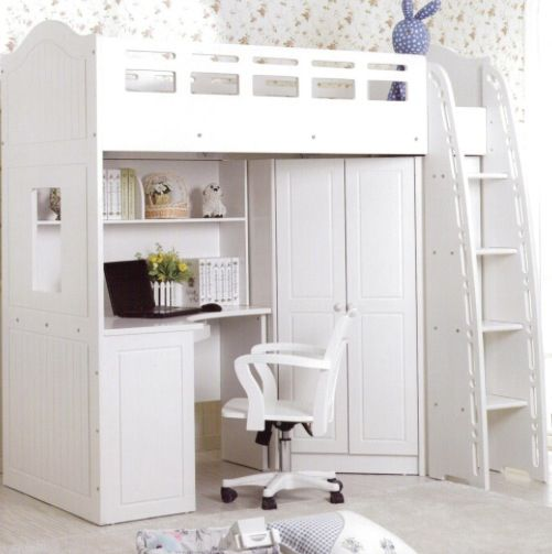 Loft Bed With Closet Underneath: Loft Bed With Closet And Desk