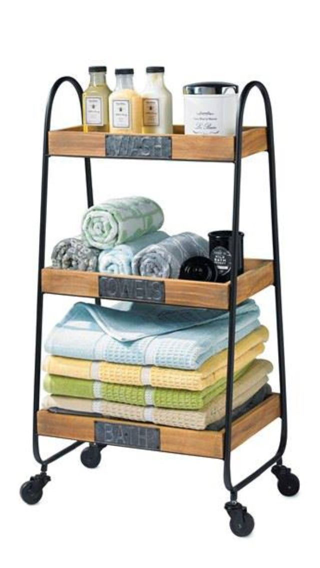 cutest bathroom cart our new bathroom pinterest - Bathroom Cart