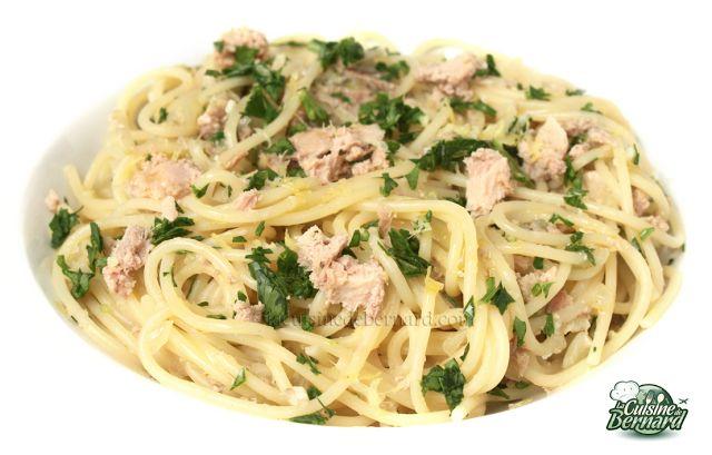 La Cuisine de Bernard: Les Spaghettis au Piment, Thon et Citron