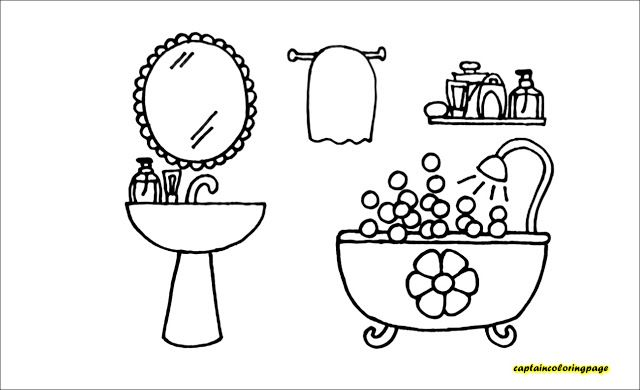 Bathroom Coloring Page 4 Kids Coloring Books Coloring Pages Bible Crafts For Kids