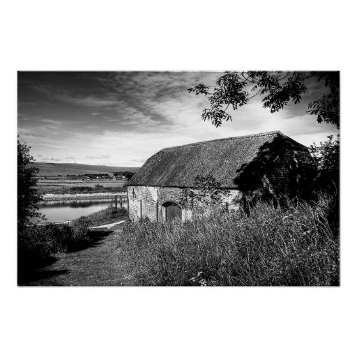 "River & Barn :- A wonderful, rural, scenic image down by the River Ouse in the village of Piddinghoe, Sussex, England. The image had a very dated feel about it once I'd processed it and I found it reminded me of some of the more ""laid back"" black and white movies of the 40's and 50's. #barn #rural #river #landscape #filmnoir #sussex #england #countryside #village #shade #shadow #sunlight"