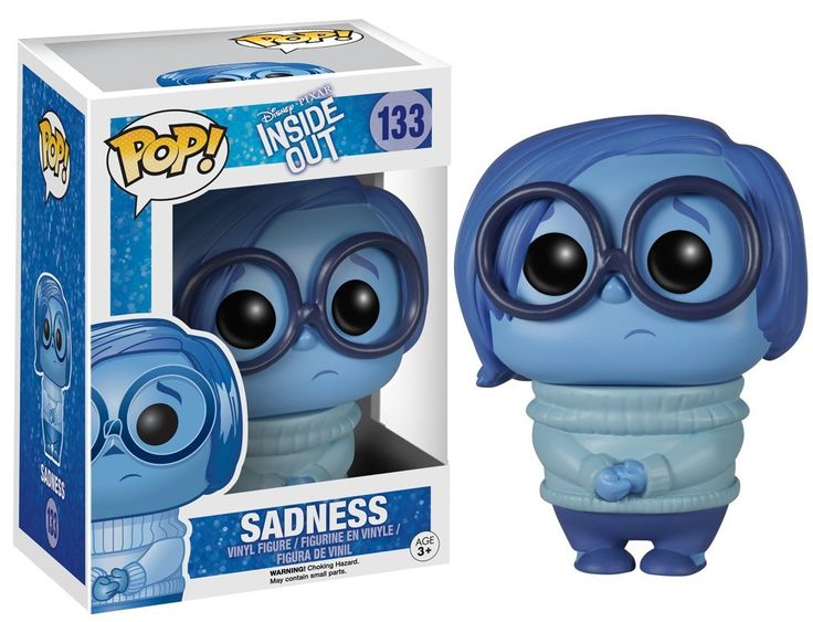 Amazon.com: FunKo POP Disney/Pixar: Inside Out - Sadness Toy Figure: Funko Pop Disney: Toys & Games