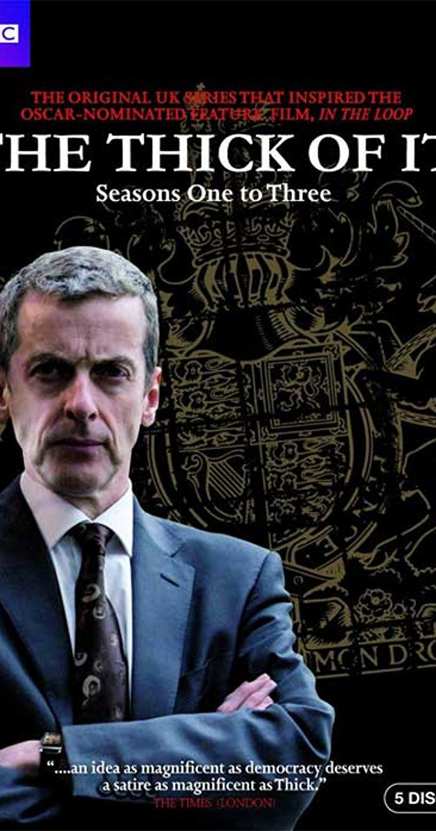With Chris Addison, James Smith, Peter Capaldi, Joanna Scanlan. Set in the corridors of power and spin, the Minister for Social Affairs, is continually harassed by Number 10's policy enforcer and dependent on his not-so-reliable team of civil servants.