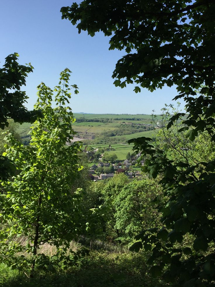 May'16 Above #thehuteyam looking into the village from the hills #peakdistrict #derbyshire #eyam #alternativeaccommodation #bedandbreakfast #glamping