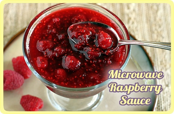 Microwave Raspberry Sauce -- An easy topping for ice cream, cheesecake, pancakes, & more