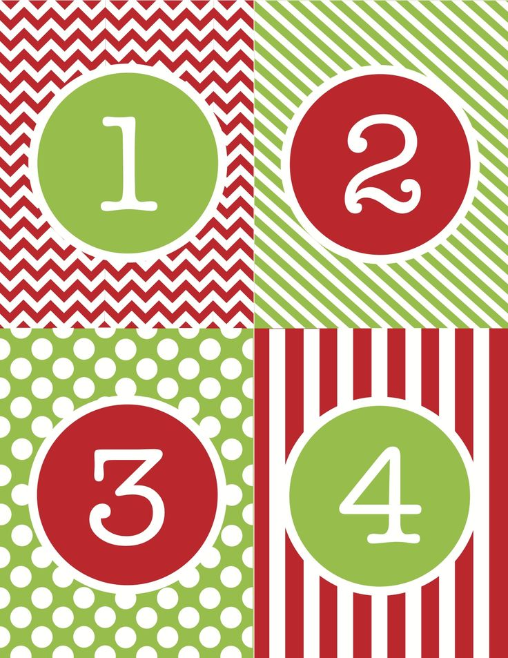 FREE printable… an advent calendar just in time for December 1st!