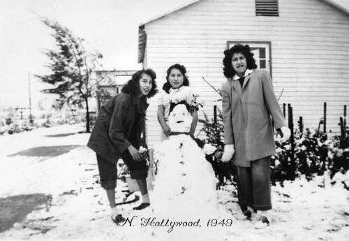 North Hollywood 1949. L to r EleanorValencia, Veronica Valencia Dixon, Esther Rivera: LAPL