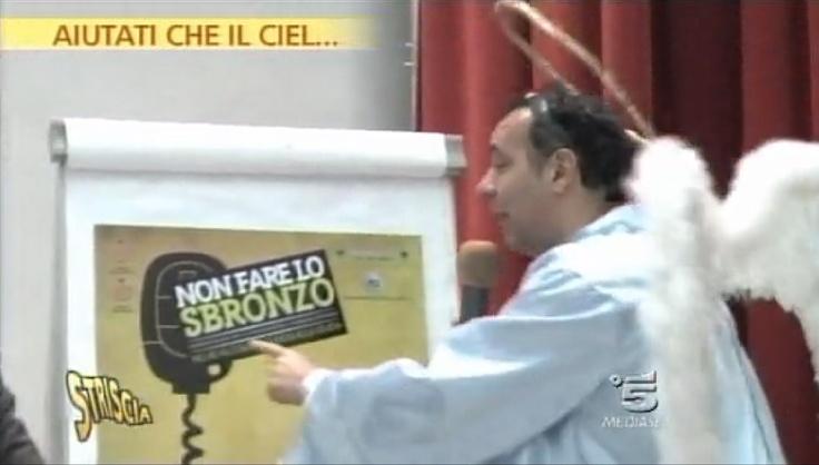"""""""Non fare lo Sbronzo"""" a Striscia La Notizia"""