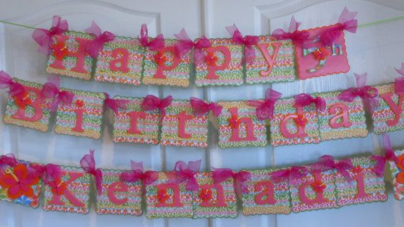 Luau Birthday Party Banner by @Wrapitupllc on etsy