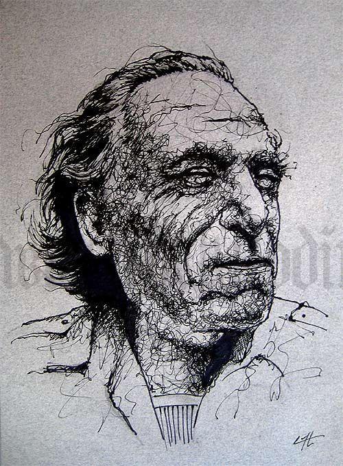 Print 5x7  Charles Bukowski  Poetry Books Alcohol by chuckhodi, $8.00