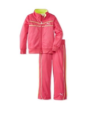 60% OFF Puma Girl's Colorblock Yoke Tricot Set (Fuchsia)