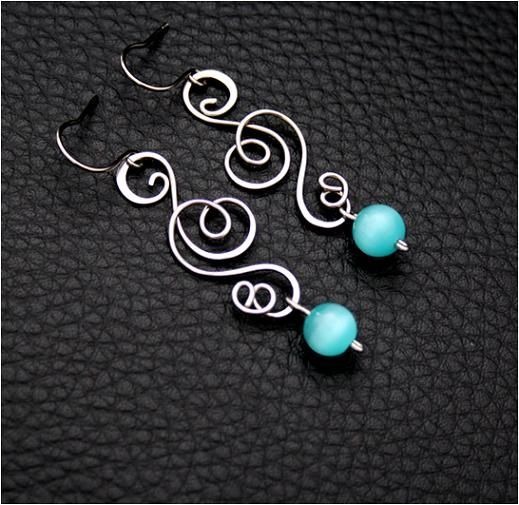 very pretty wire work with beads