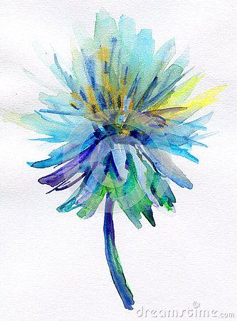 Blue Watercolor Flower By Olesia Lishaeva Via Dreamstime Dream Big Pinterest Watercolor