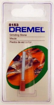 """ToolUSA 3/16"""""""""""""""" X 3/8"""""""""""""""" Genuine Dremel Brand, Aluminum Oxide Grinding Stone With 1/8"""""""""""""""" Shank: LDRE-8153 : ( Pack of 1 Pc )"""