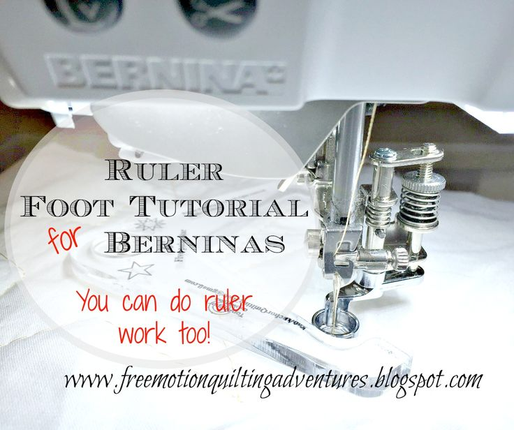 Amy's Free Motion Quilting Adventures: Ruler foot for Berninas: A Tutorial