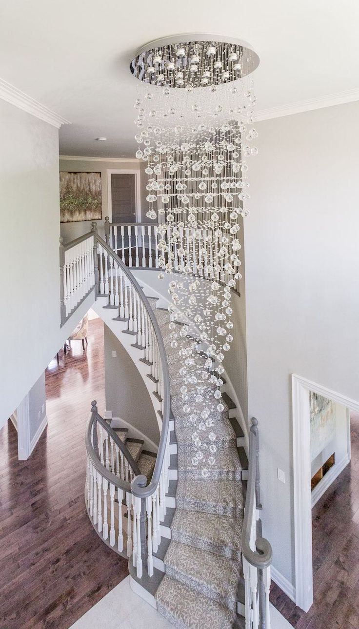 """""""Sparkling Gem"""" entryway, stairs designed by Lionsgate Design"""