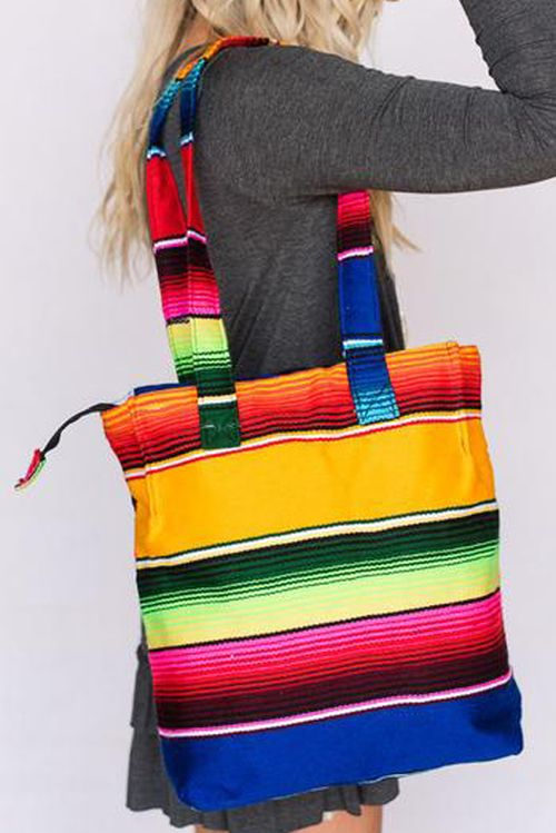 Serape Oversized Handbag by Gemini Mermaids